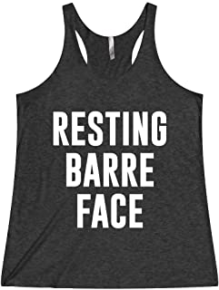 Barre Tank Tops For Women Resting Barre Face Workout Clothing Shirt