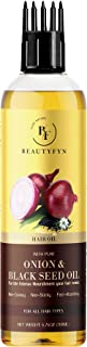 BEAUTYFYN Onion Black Seed Oil for Organic Hair Growth with Comb Applicator – Natural and Effective Hair Growth Oil for In...
