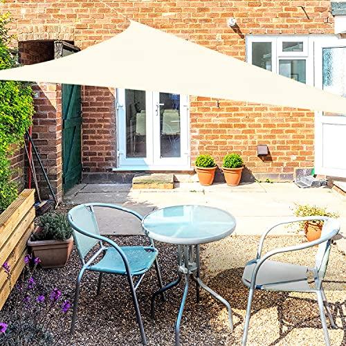 OKAWADACH Sonnensegel, Polyester Sonnensegel Sonnenschutz Garten Balkon und Terrasse wetterbeständig mit UV Schutz Windschutz für Garten Terrasse Camping (Dreieck 2 x 2 x 2m...