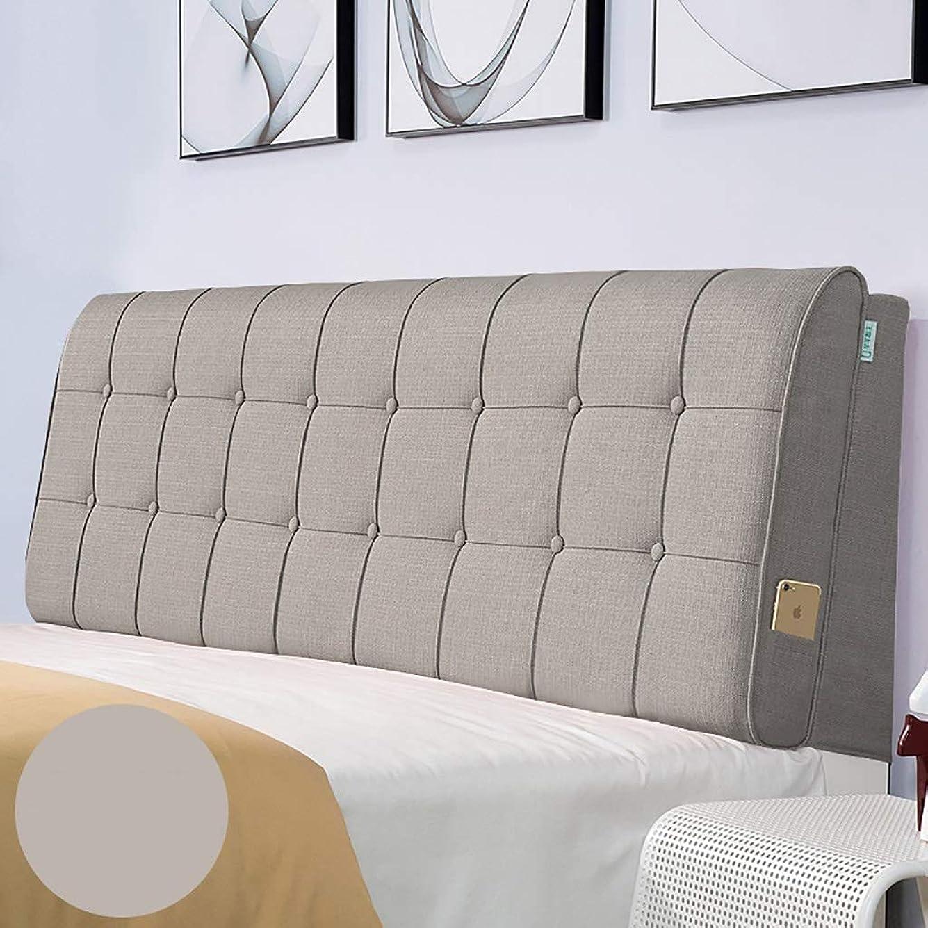罰浮くブラストベッド枕 多色オプションのベッドヘッドクッションクッション大バックヘッドボードソフトカバー生地畳取り外し可能と洗える綿とリネン素材サイズ90センチメートル - 200センチメートルオプション 写真ベッド枕首まくら (色 : G g, サイズ さいず : No bed(120*60))