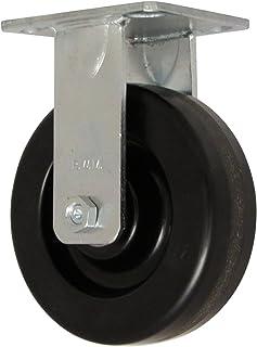 4-1//2 Plate Length 6 Wheel Dia RWM Casters 45 Series Plate Caster Thread Guard 2 Wheel Width 4 Plate Width 1200 lbs Capacity Phenolic Wheel Swivel Roller Bearing 7-1//2 Mount Height