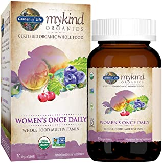 Garden of Life Multivitamin for Women - mykind Organic Women's Once Daily Whole Food Vitamin Supplement, Vegan, 30 Count Tablets