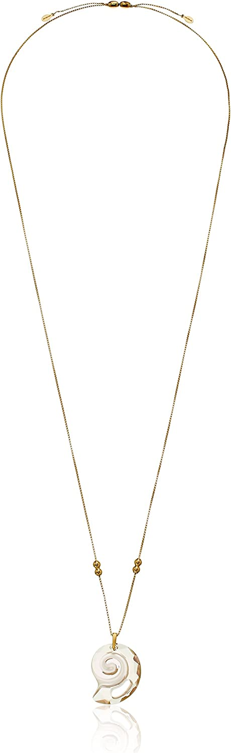 Alex and Ani Crystal Infusion Pull Chain, Nautilus, Kelp Green Pendant Necklace