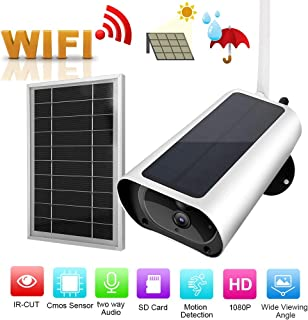 1080p HD Solar Cámara Cámara Inalámbrica con Alimentación Solar Sistema de Cámara de Seguridad WiFi de Sistema de Monitor de Seguridad (con batería)