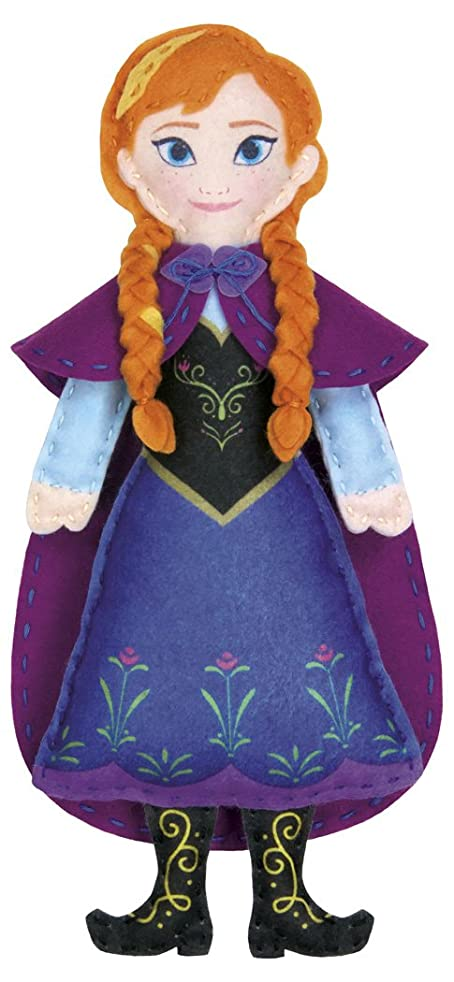 Dimensions Needlecrafts 72-74477 Disney Frozen Anna Felt Applique Kit