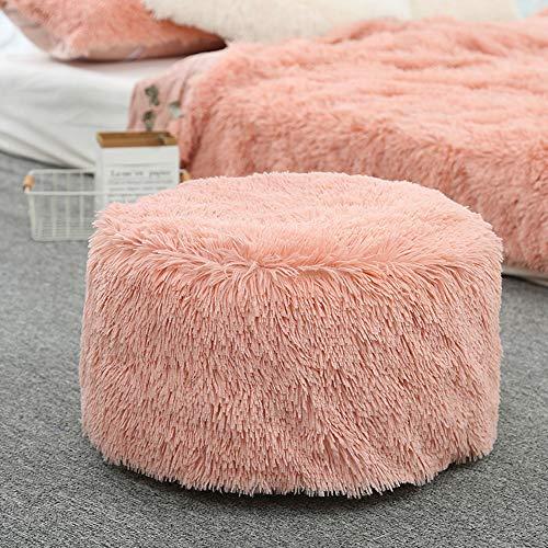 Aufblasbarer Hocker Sofa Home Dekoration Tragbarer Stuhl, Morbuy Air gefüllt Komfort Sitz ideal als Fußhocker und tragen Sie Schuhe Hocker Fußhocker + aufblasbare Pumpe (50cm x 35cm,Rosa)