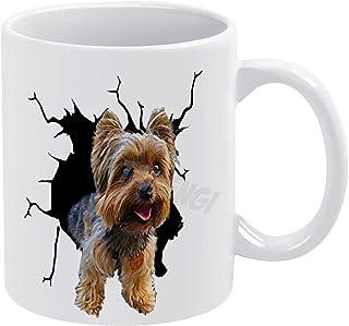Koffiemok, Yorkshire Crack, witte keramische 11oz koffiemok - 11oz Tea Cup cadeau, voor man, voor vrouw, voor mannen, voor...