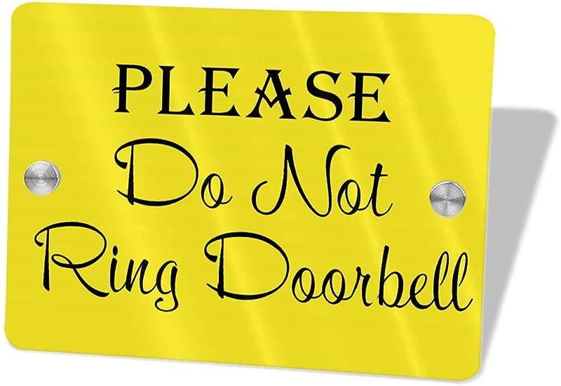 2vf78wew11 Please Do Not Ring The DoorbellCustom Door Sign 5 5 X 7 5 Door Suite Wall Sign Name Plate For Wall Front Door Decor Indoor Outdoor