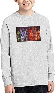 Five Nights at Freddy's Long Sleeve Shirt for Boys Crewneck Tee T-Shirt,Black,
