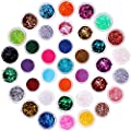 Chunky Glitter, Anezus 67Pcs Holographic Glitter with Fine Festival Glitter in Different Sizes and Dotting Tools for Cosmetic Nail Art Hair Craft and Slime