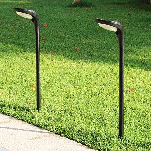 Leepesx 2 Confezioni di luci solari Esterne Impermeabili Decorative Paesaggio luci solari per Giardino Paesaggio Patio Cortile Cortile vialetto passerella Luce Bianca