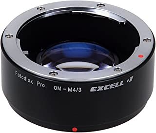 Fotodiox Fotodiox Pro Excell+1 Lens Adapter   Olympus OM Lens to Mirco 4/3 (MFT) Camera with Focal Reducing Light Gathering Optics