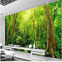 Xbwy 装飾壁画自然の風景Hdの大きい壁の壁画の森の壁紙の居間の景色の家-400X280Cm