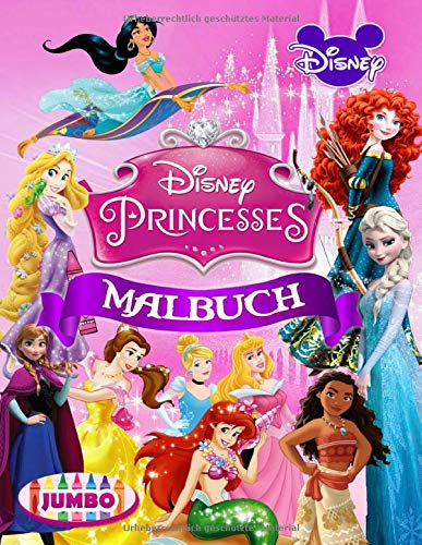 Disney Princesses Malbuch: Prinzessin Malbuch Mit Schönen Inoffiziellen Bildern Für Kinder Im Alter Von 4-8