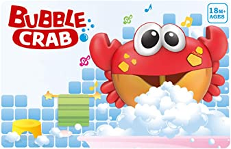 HOCHE Toy-Crab Musical Bubble Maker Fun Bath Toy,Automated Spout Bubble Machine Blower Maker with 12 Nursery Rhymes for Baby