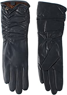 Nappaglo donne italiane di pelle guanti di pelle inverno caldo semplice lungo vello fodera guanti (touchscreen o non touch...