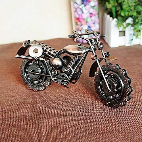 CrazyCrafts Metal Motor Bike Miniature Showpiece, Large, Silver