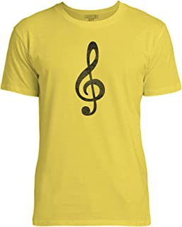 Austin Ink Apparel Womens Music Treble Clef Print Unisex Cotton T-Shirt