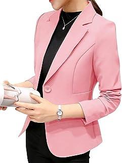 7e44c00782dc59 ORANDESIGNE Donna Elegante Manica Lunga Colletto Cappotto Ufficio Business  Blazer Top Gilet Corto OL Carriera Giacca