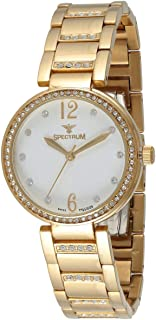 Spectrum Women White Dial Stainless Steel Band Watch - S12541L