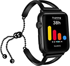 iGK Compatible with Apple Watch Band 38mm 40mm 42mm 44mm, Jewelry Bangle Cuff Adjustable Stainless Steel Replacement Band for Women Girls iWatch Apple Watch Series 4/3/2/1