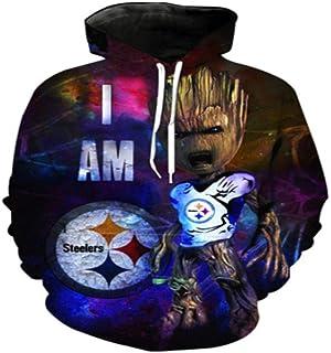 Fleyel Unisexe HD 3D Imprimer Rap Hooded Top Hoodie Rue Pull Jeunes Sweats Parkour Jumpers Guardians of The Galaxy