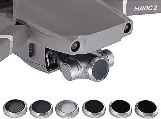 RC GearPro 6 PCS Lens Filter Kit for DJI Mavic 2 Zoom, Includes Multi-Coated HD-MC UV,HD-CPL,HD-ND4,HD-ND8,HD-ND16,HD-ND32 Filter