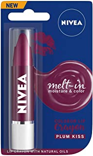 NIVEA Lip Crayon, Coloron Plum Kiss, Lip Balm, 3g