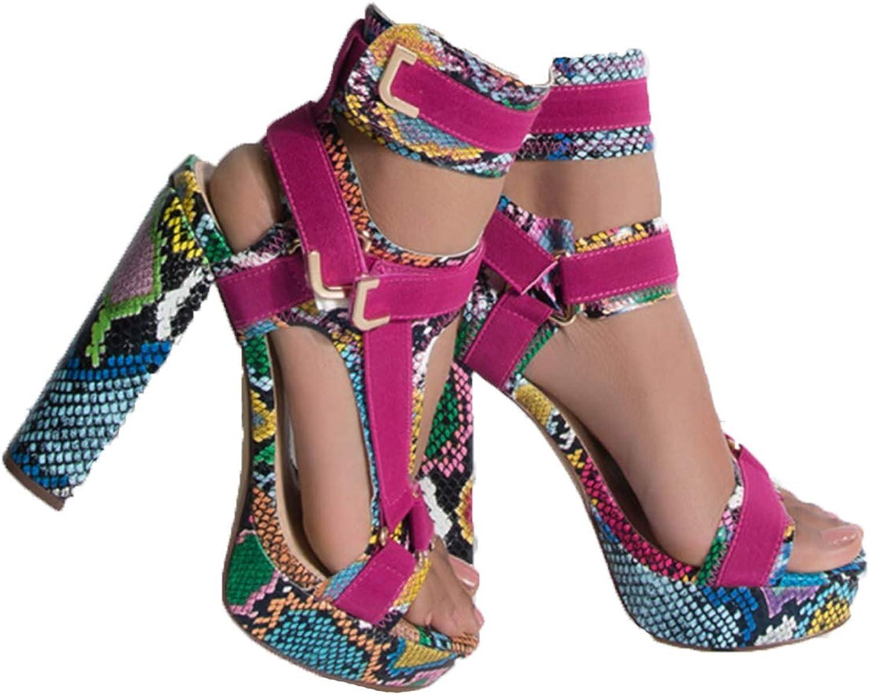 Erocalli Sexy Chunky Heeled Platform for Toe Women 引き出物 Open 日本限定 Sandals