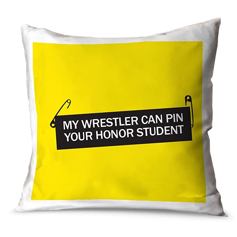 寝室浸食ドラムChalkTalkSPORTS Wrestling Throw枕My Wrestler CanピンYour Honor Student 24