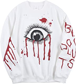 Sponsored Ad - Eye of God Sweatshirts Dark Graffiti Hip Hop Rapper Hoodie Crewneck Cotton Long Sleeve Pullover