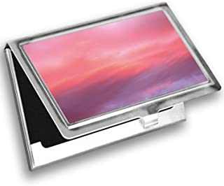 Ambesonne Coral Card Holder, Vanilla Sky, Metal Card Wallet