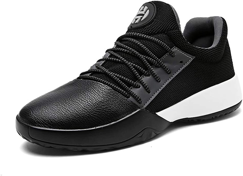 ZHRUI Men Light Basketball shoes Comfortable Outdoor Sport shoes for Male Mens (color   Black, Size   5.5 UK=39 EU)