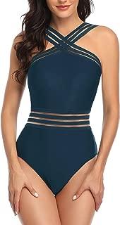 Tempt Me Women One Piece Bathing Suit Slimming Crisscross Lace Up Swimsuit