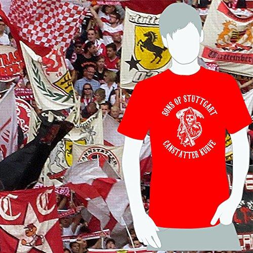World of Football T-Shirt Sons of Stuttgart Cannstatter Kurve rot - XXL
