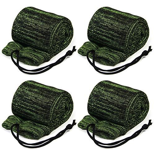 GUGULUZA Socken für Gewehre,Silikon Öl behandelt Knit Fabric Shotgun Gewehr Storage Gun Socke 132 cm (F-GRÜN)