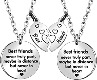 JJIA Best Friend Necklaces for 2, Friendship Gifts Thanksgiving Gifts Birthday Gifts