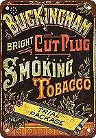 Buckingham Cut Plug fumar tabacodise 金属板ブリキ看板警告サイン注意サイン表示パネル情報サイン金属安全サイン