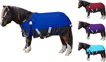 Derby Originals Classic Nordic-Tough 600D Ripstop Waterproof Winter Mediumweight Mini Horse & Pony Turnout Blankets with 2...