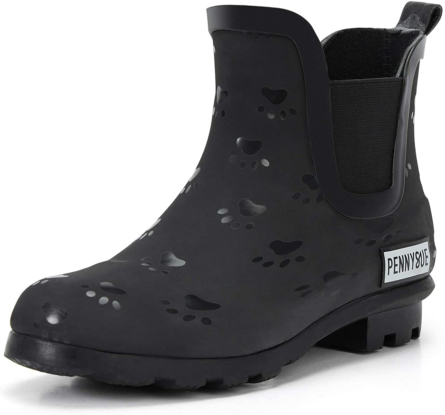 PENNYSUE Women's Ankle Rain boots Waterproof Chelsea Booties with Rubber Non-Slip Sole