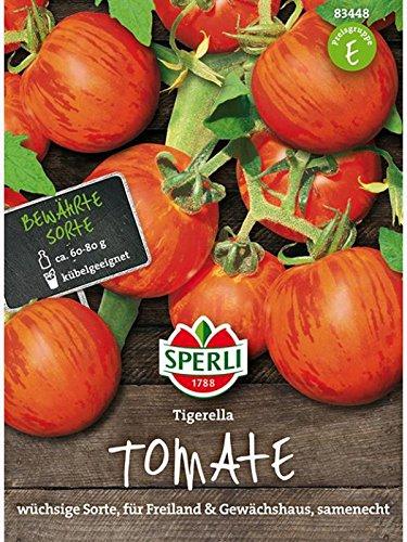 Sperli Gemüsesamen Cocktail-Tomate Tigerella, grün
