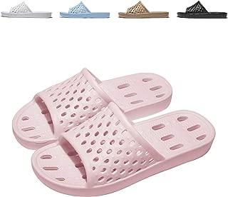 WOTTE Shower Sandals Women Quick Drying Bath Slippers Non Slip Dorm Shoes Size 5.5-13