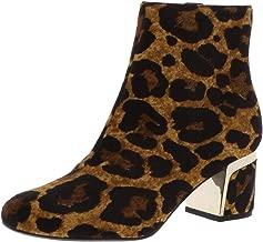DKNY Womens Corrie Calf Hair Leopard Booties Tan 7.5 Medium (B,M)