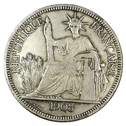 Xinmeitezhubao Münzsammlung 1908 Frankreich, die Göttin des Tales, antike Münzen, Sammlung von antiken Münzen