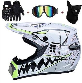 IKHNGLE Motocross Helmet DOT Adult Full Face Helmet Motocross Off-Road Dirt Bike Motorcycle ATV