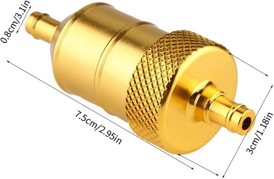 filtro universal de 8 mm de aluminio para motocicleta Filtro de gasolina Filtro de gasolina Plata EVGATSAUTO Filtro de aceite de repuesto para motocicleta