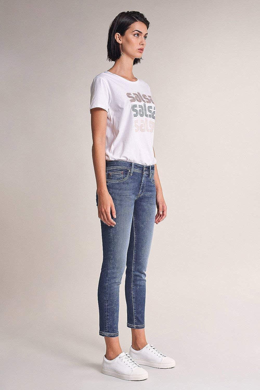 Sausa Jeans Colette Capri Bleu