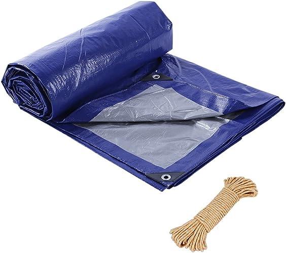 ZM& Bache Double Face Imperméable Bleu gris Bleu gris Avec Cordon De Prougeection Solaire Imperméable Bache Tente Antistatique ++ (Taille   2X3m)