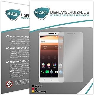 Slabo 2 x displayfolie för Alcatel A3 XL displayskyddsfolie tillbehör No Reflexion MATT – Made IN Germany