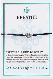 Breathe Blessing Bracelet - Black/Silver